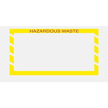 Staples Packing List Envelopes, 5-1/2in. x 10in., Yellow Border in.Hazardous Wastein.