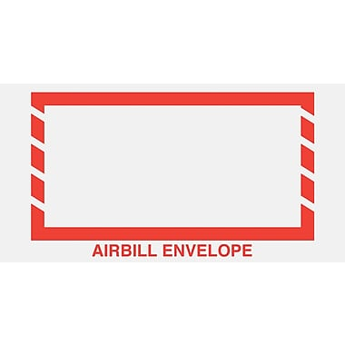 Staples Packing List Envelopes, 5-1/2in. x 10in., Red Border in.Airbill Envelopein.