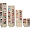 Durham Con-Tur® Rotary Literature Racks, 80 Pocket, Putty