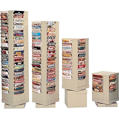 Durham Con-Tur® Rotary Literature Racks, 80 Pocket, Gray