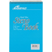 "Ampad Evidence Blue Steno Pad, 6"" x 9"", Gregg Ruled, 80 Sheets/Pad (25286)"