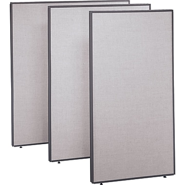 Bush ProPanel 48in. Wide Privacy Panel, 42-7/8in.H x 48in.W x 1-3/4in.D, Gray