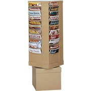 Durham Con-Tur® Rotary Literature Racks, 44 Pocket, Tan