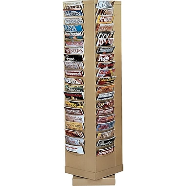 Durham Con-Tur® Rotary Literature Racks, 92 Pocket, Tan