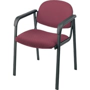 Office Star™ Guest Chair with Steel Frame, Cabernet