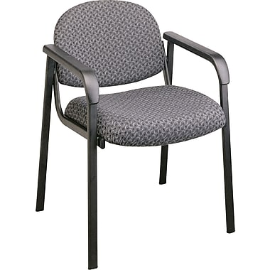 Office Star Guest Chair with Steel Frame, Onyx