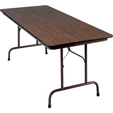 Global 8' Folding Melamine Banquet Table