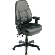 Office Star™ Dual Function Ergonomic High Back Leather Manager's Chair