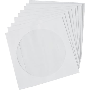 Staples® CD/DVD Envelopes, White, 50/Pack