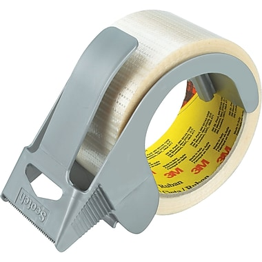Scotch Extreme Shipping Strapping Tape with Dispenser, 1.96in. x 21.8 yds, Clear, 1/Pack