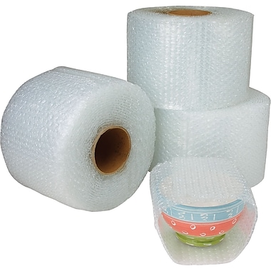 Staples® Cohesive Bubble Rolls, 12in. x 300', 4/Case