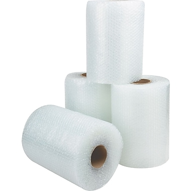 Staples® Non-Perforated Bubble Rolls, 1/2in. Bubble Height, 12in. x 125', 4/Case