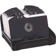 Rolodex® Designer Open Card File, Black Mesh, 2 1/4 x 4