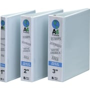 3 International-Size A4 Round-Ring Binder, White