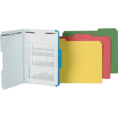 Pendaflex® Colored Fastener Folders, Letter, Red, 50/Box