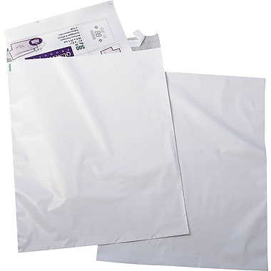 Quality Park 12in. x 15-1/2in. White Redi-Strip™ Poly Mailers, 100/Box