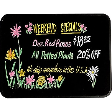 Quartet® Black Dry-Erase Marker Board, 3' x 2', Black Frame & Surface (S513)