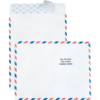 Staples® 10in. x 13in. Tyvek® Airmail Envelopes, 100/Box