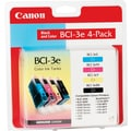 Canon BCI-3e Black and Color Ink Cartridges, 4/Pack