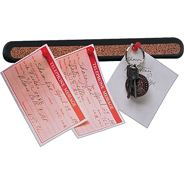 Quartet® 18in. Cork Message Bars with Black Plastic Frame