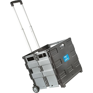 Staples® Expanding Folding Crate on Wheels