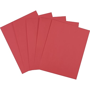 Staples® Brights Colored Paper, 8 1/2in. x 11in., Red, Ream