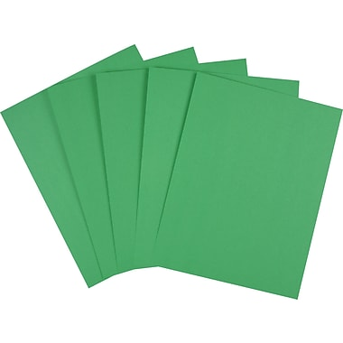 Staples Brights 24 lb. Colored Paper, Dark Green, 500/Ream
