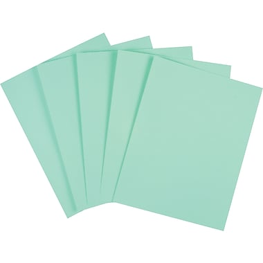 Staples® Cover Stock Paper, 8 1/2in. x 11in., Green