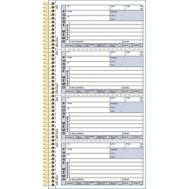 Rediform® Gold Standard™ Phone Message Book