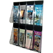 Deflecto Stand-Tall® 8-Pocket Wall Mount Leaflet Rack