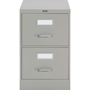 Staples® Vertical Legal File Cabinet, 2-Drawer, Grey