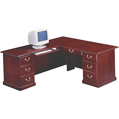 DMI Andover Left Executive L-Desk, Mahogany