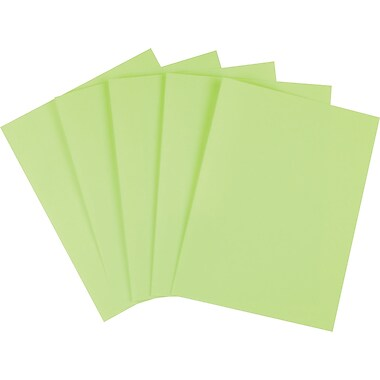 Staples® Brights Colored Paper, 8 1/2in. x 11in., Green, Ream