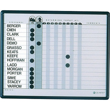 Quartet® In/Out Personnel Board, 24in. x 18in.