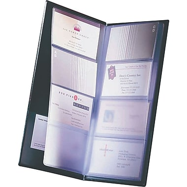 Rolodex 96-Card Black Vinyl Business Card Book