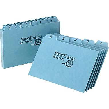 Oxford® 5in. x 8in. Alphabetical Pressboard Indexed Tab Guide Sets