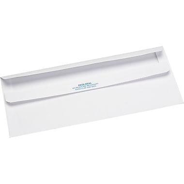 Quality Park Products® Redi-Seal 4 1/8in. x 9 1/2in. White 24 lbs. Security Tinted Envelopes, 500/Pack