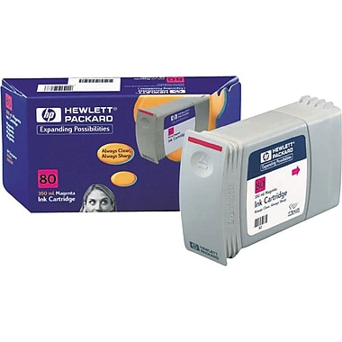 HP 80 Magenta Ink Cartridge (C4847A), 350ml