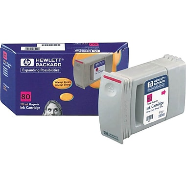 HP 80 Magenta Ink Cartridge (C4874A), 175ml