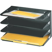 SteelMaster® Legal-Size Metal Horizontal Organizer, 4 Tiers