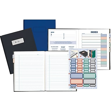 Blueline Executive Business Notebook, Blue Hard Cover, 192 Pages / 96 Sheets, 9-1/4