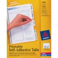 Avery 1-1/4in. White Printable Self-Adhesive Tabs