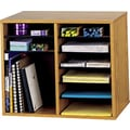 Safco® Adjustable Wood Literature Organizer, 12 Compartment, 19 1/2in. x 12in. x 16in., Medium Oak