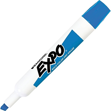 Expo® Chisel Tip Dry-Erase Markers, Blue, Dozen