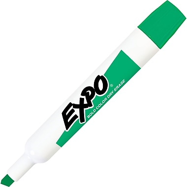Expo® Chisel Tip Dry-Erase Markers, Green, Dozen