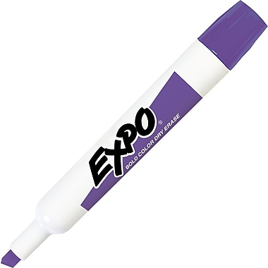 Expo® Dry-Erase Markers, Chisel Tip, Purple, Dozen
