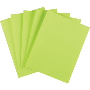 Wausau Paper Astrobrights® Colored Card Stock, 8 1/2in. x 11in., Terra Green, 250/Pack