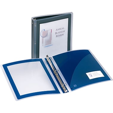 1-1/2in. Avery® Flexi-View Presentation Binder with Round Rings, Navy Blue