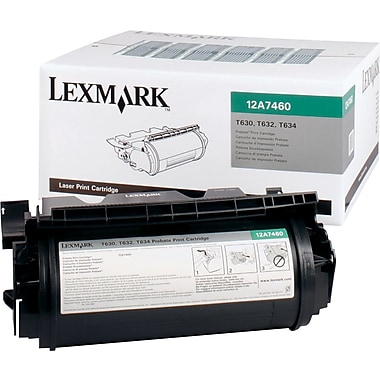 Lexmark 12A7460 Black Return Program Toner Cartridge