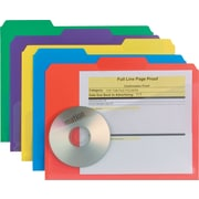 Smead® Slash Pocket Poly File Folders, Letter, Assorted, 30/Box
